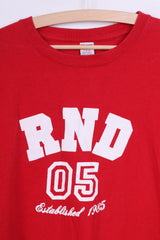 Comic Relief Mens XL T-Shirt Cotton Red Crew Neck RND 05