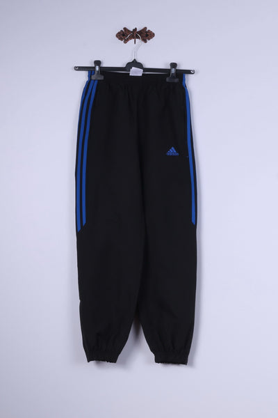 Adidas Boys 12 Age 152 Trousers Black Sportswear Bottoms Two Pockets Training Pants
