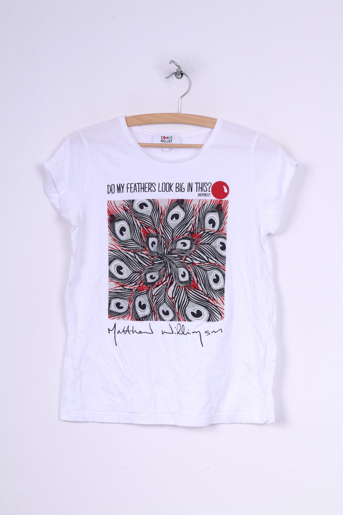 db9e8e7a89e Comic Relief Matthew Williamson Womens S T-Shirt Do My Feathers Look B –  RetrospectClothes