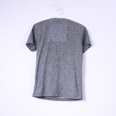 Superdry Mens S T-Shirt Grey Cotton Top J.P.N College Top Crew Neck