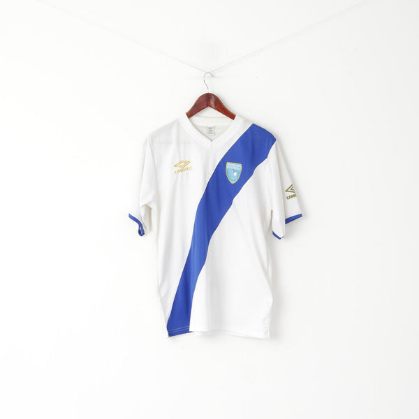 Seleccion Nacional Guatemala Men L Shirt White V Neck Football Jersey Top