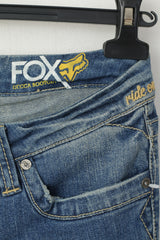 New FOX Women 26 38 Jeans Trousers Navy Denim Cotton Bootcut Pants