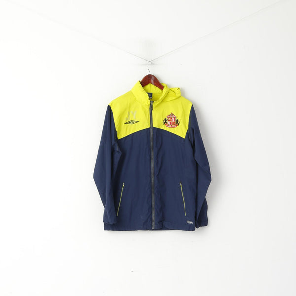 Umbro Men S Jacket Navy Yellow Sunderland Football Zip Up Sportswear Top