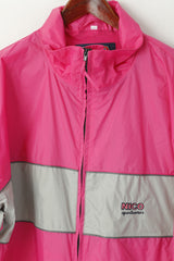 NICO Sportswear Men XL Jacket Pink Nylon Waterproof Extreme 3000mm Zip Up Top
