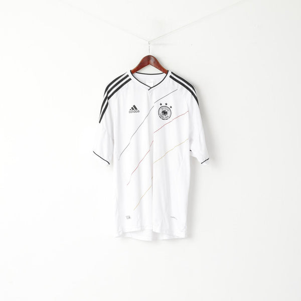 Deutschland Men XXXL (XL) Shirt White Deutscher Fussball Bund V Neck Jersey Top