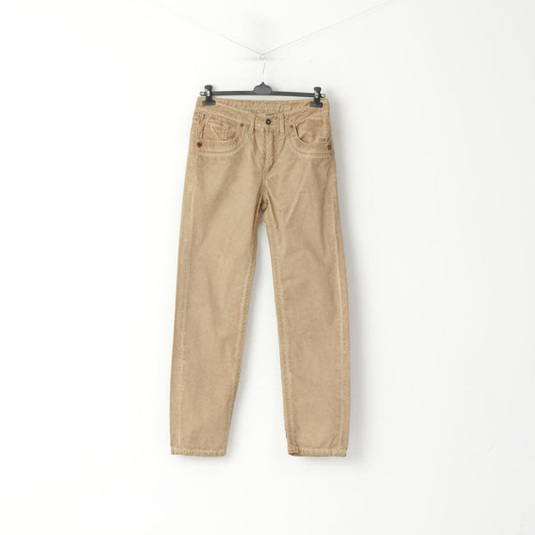 Camp David Men M 34 Trousers Brown Faded Cotton High Quality Casual Pants