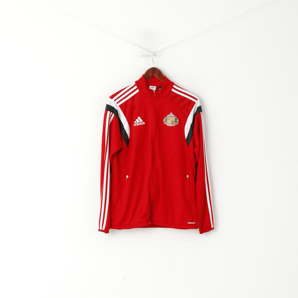Adidas A.F.C Men S Sweatshirt Red Sunderland Football Club Zip Up Track Top