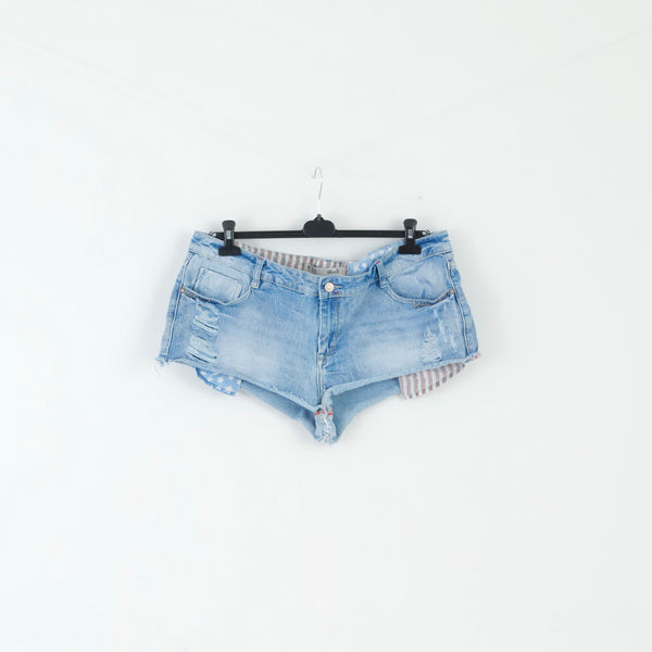Denim Co. Womens 18 46 Shorts  Distressed Blue Denim  Cotton Jeans