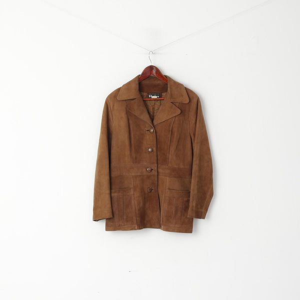 Hydes Women 14 Jacket Brown Leather Suede Queen Street Auckland Classic Top
