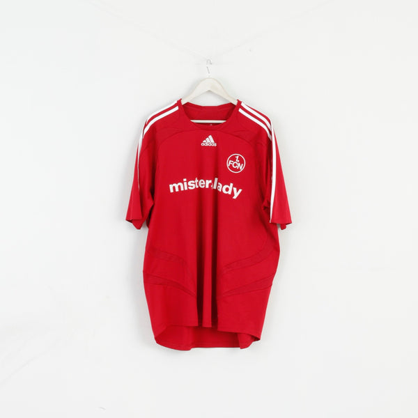 Adidas Mens 2XL Shirt 1 FCN Nürnberg Football Club Mister Lady Jersey Maria