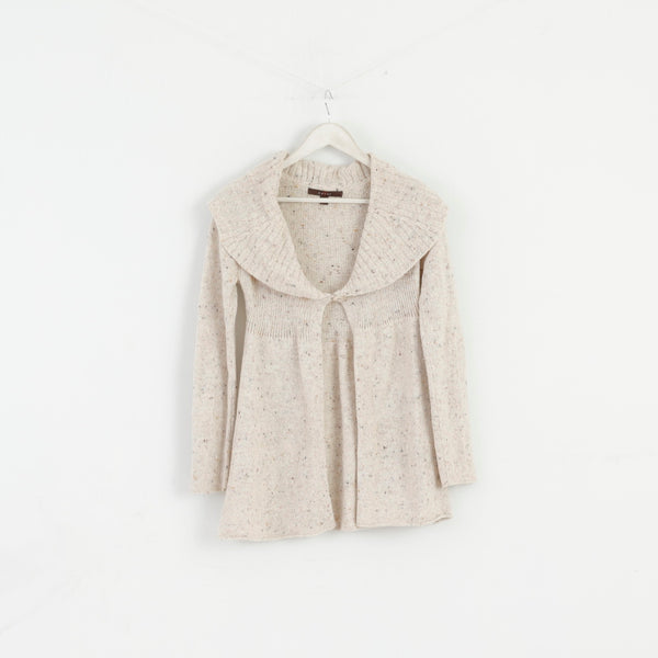 Fever Women S Jumper Beige Wool Angora Blend Cardigan Sweater