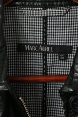 Marc Aurel Womens 38 S Jacket Black Shiny Full Zipper Biker Lightweight Classic Top