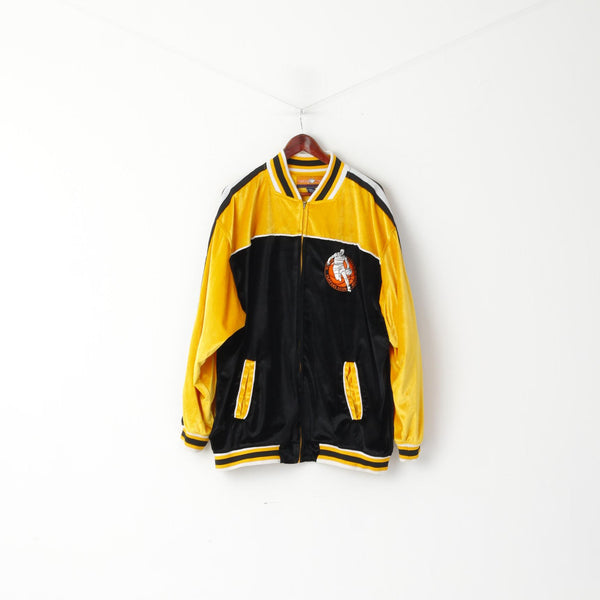 Veezo Wear Men 2XL Sweatshirt Bomber Basketball World Championship Players Club Yellow Sportswear