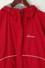 Berghaus Girls 13 Age 158-161 Jacket Red Hood Nylon Waterproof Outdoor Top