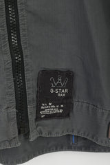 G-STAR Raw Men XXL (L) Jacket Grey Cotton Full Zipper Emroidered Casual Top