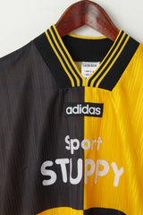 Adidas Men S Shirt Black Yellow Shiny Vintage Stuppy #13 Training Jersey Top
