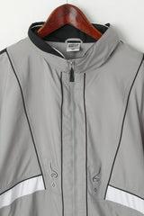 Etirel Le Style Sportif  Women 42 L Jacket Gray Sportswear Zip Up Lightweight Top