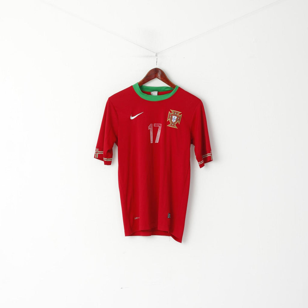Nike Youth XL 14 Age Shirt Red #17 Nani FPF Portugal Football Jersey Top