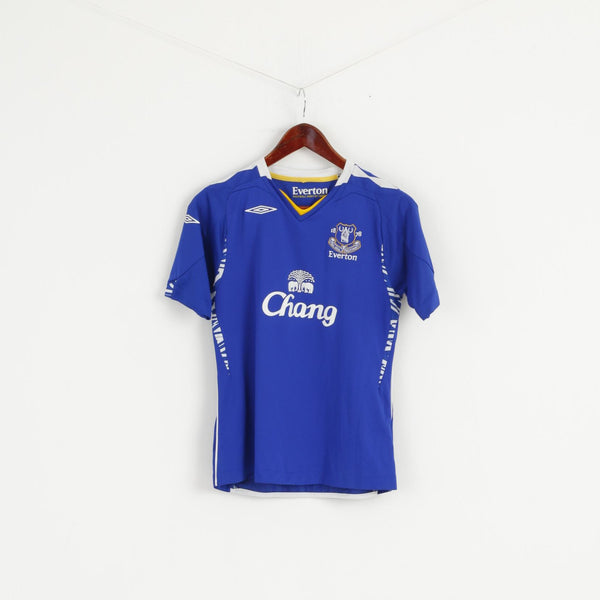 Umbro Everton  Womens 10 36 S Shirt Blue Football Club Jersey Top