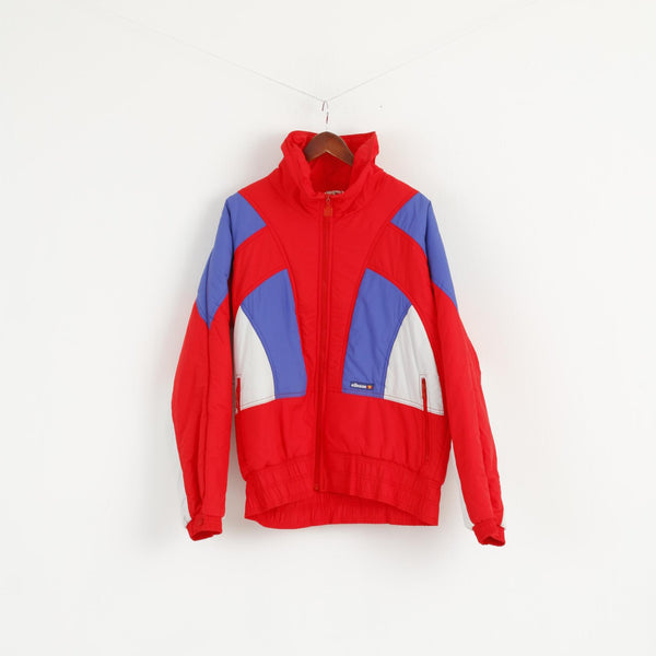 MICRO By Ellesse Mens 54 L Jacket Ski Red Nylon Waterproof Italy Vintage 80s