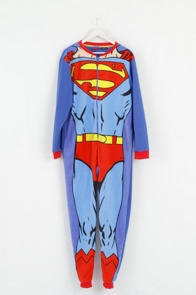 Cedar Wood State Mens M Pajamas Superman Blue Comics Sleepwear
