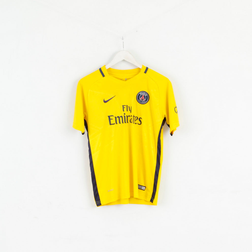 Nike Boys 176 Shirt Paris Saint Germain Neymar JR #10 Yellow Jersey Top