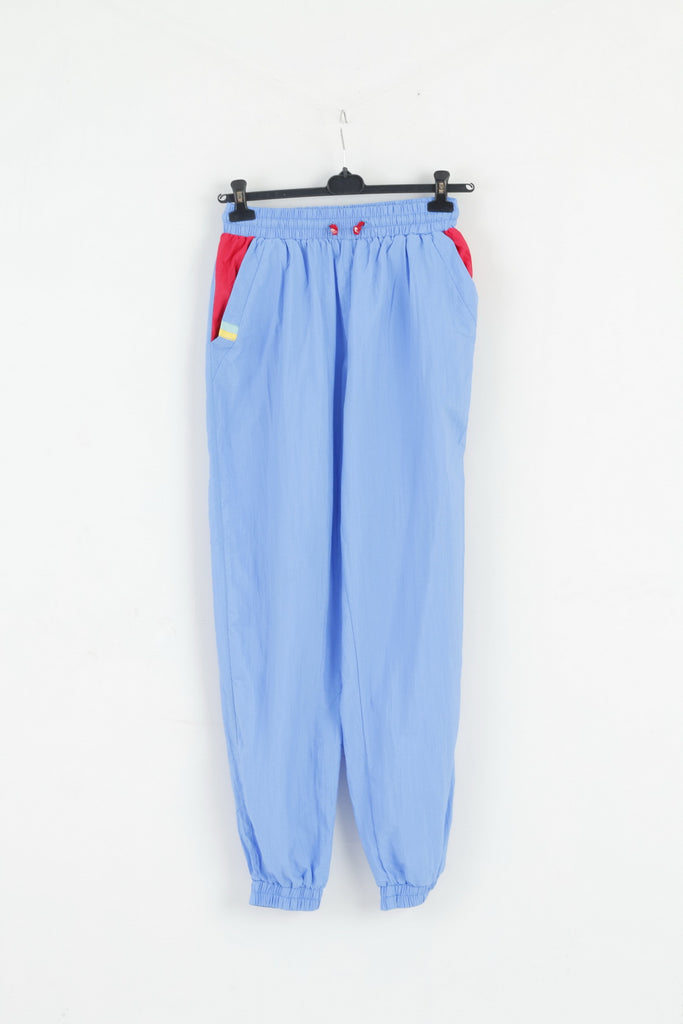 Vintage Womens M Trousers Blue Retro Lightweight Pockets Active Bottoms