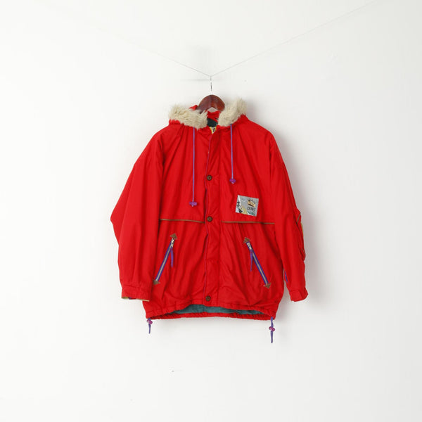 Craft Youth 164 Ski Jacket Red Snoboarding Hooded Royal Corps Vintage Top