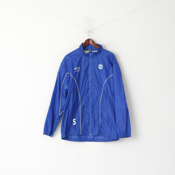 Umbro Men XL Jacket Blue Nylon TUIL Tromsdalen Football Rainproof Training Top