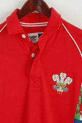 Cotton Traders Men S Polo Shirt Red Cotton Welsh WRU CYMRU Rugby Top