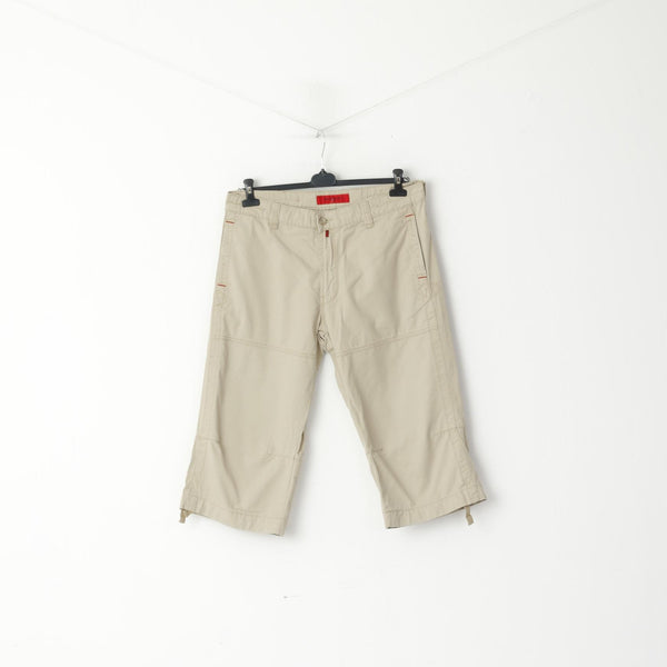 Pierre Cardin Jeans Men 35 50 Shorts Beige Cotton Casual Cropped Pants