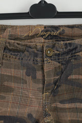 Mogul Womens 25 Trousers Brown Moro Camuflage Bootcut Leg Pants