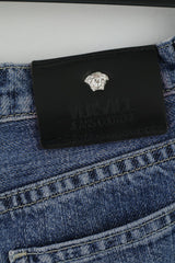 Versace Jeans Couture Womens 28 42 Jeans Trousers Blue Denim Italy Bootcut