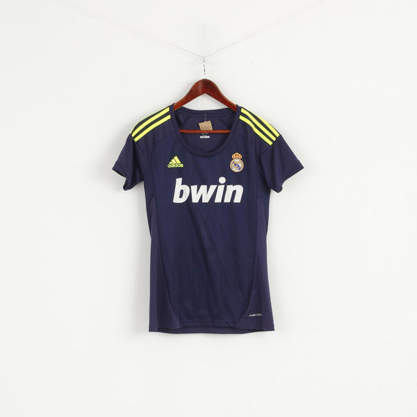 Adidas Real Madrid Women M Shirt Blue Football Club Ozil #10 Jersey Top