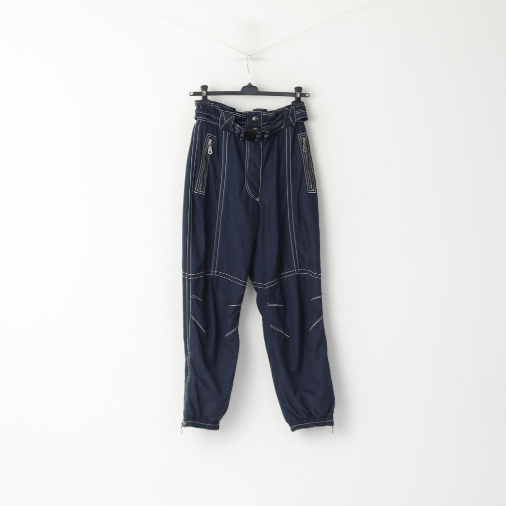 Rodeo by C&A Women M Ski Trousers Navy Snowboarding Belted Pants
