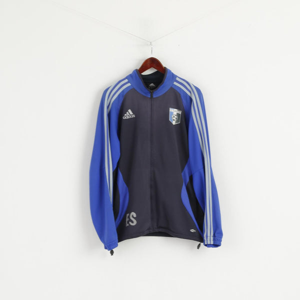 Adidas F.C. Kufstein Men M Sweatshirt Blue Full Zipper Football Club Track Top