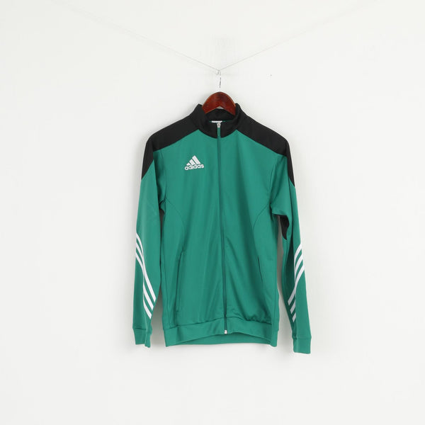 Adidas Men S Sweatshirt Green Shiny Slim Fit Full Zipper Classic Track Top