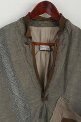 Francois Martin Men 52 M Pullover Jacket Atlantic Flight 1927 Charles Lindbergh Aviator Linen Top