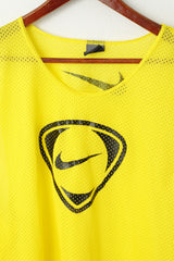 Nike Men One Size Shirt Yellow Sleeveless Mesh Sport Training Vest Top