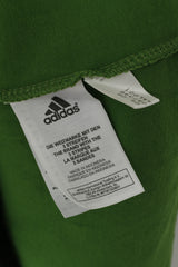 Adidas Men S Shirt Green Cotton Emroidered Logo Crew Neck Sport Traning Top