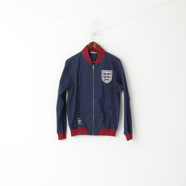 Umbro Men S Jacket Navy Cotton England World Cup Winners 1966 Zip Up Vintage Top