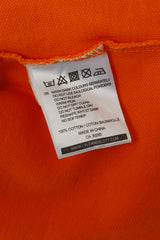 Lyle & Scott Club Men XL Polo Shirt Orange Cotton Short Sleeve Detailed Buttons Top