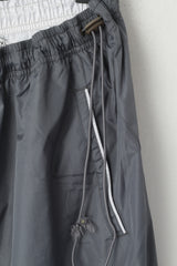 Protech Men XL Sweatpants Gray Shiny Dynamics Sportswear Mesh Lined Trousers