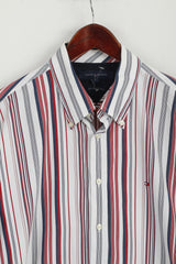 Tommy Hilfiger  Mens L Shirt Striped Cotton Long Sleeves