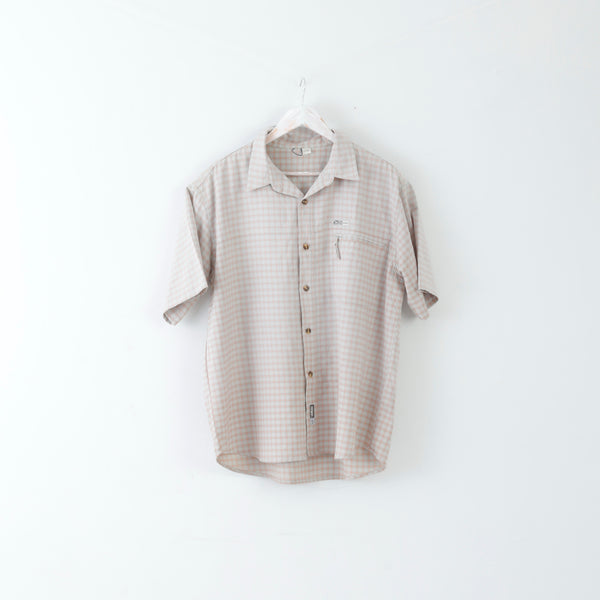Salewa 5C Five Confidents Mens 52 XL Casual Shirt Short Sleeve Checked Polyester