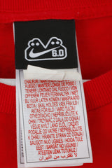 Nike Mens M T-Shirt Red Cotton 6.0 Six Point Graphic Crew Neck Top