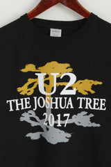 Fruit Of The Loom Men L T- Shirt Black U2 The Joshua Tree 2017 Cotton Rock Top