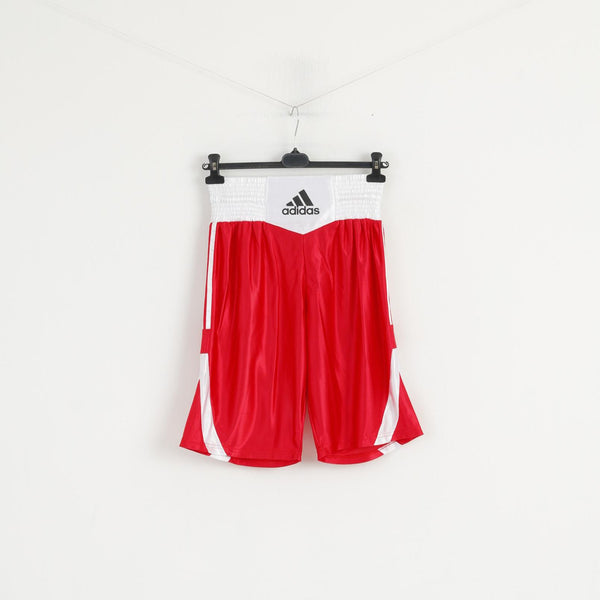 Adidas Men L Shorts Red White Boxing Shiny Training Sportswear