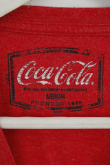 George Coca Cola Mens M T-Shirt Red Cotton Blend Classic Top Crew Neck