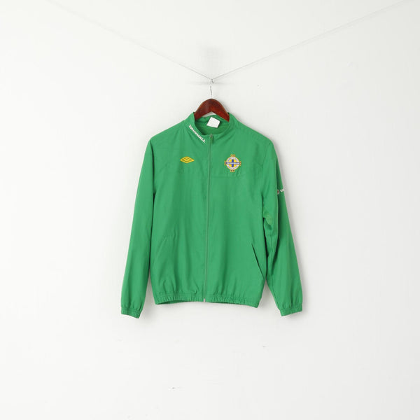 Umbro Youth XLB 158 Track Jacket Green Northern Ireland Football Association Top